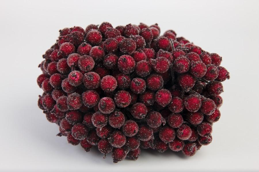 Ягодки бордово-красные в сахаре 1 см