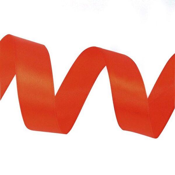 Лента атласная 0,7 см красная
