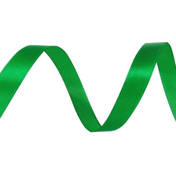 Лента атласная 0,7 см зеленая