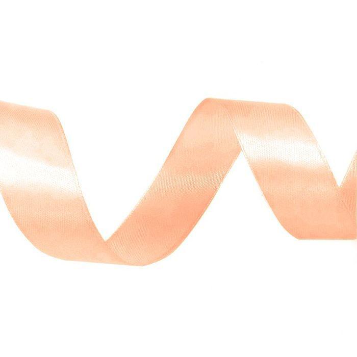 Лента атласная 1,2 см персиковая