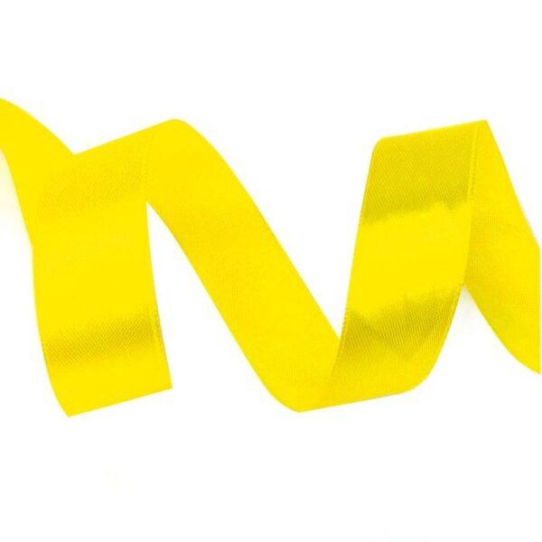 Лента атласная 0,7 см желтая