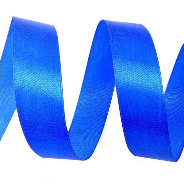 Лента атласная 0,7 см синяя
