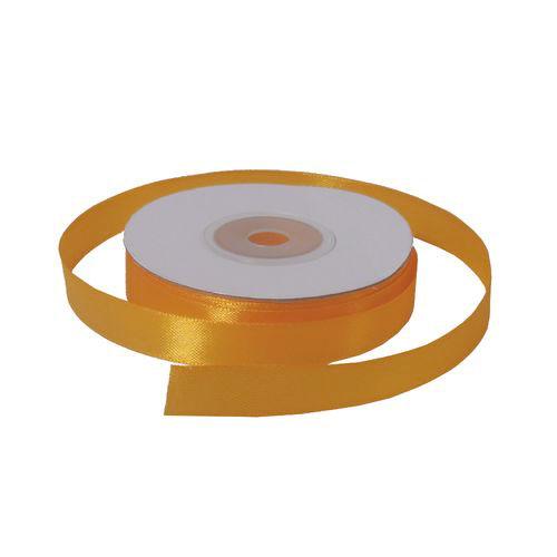 Лента атласная 1,2 см темно-желтая
