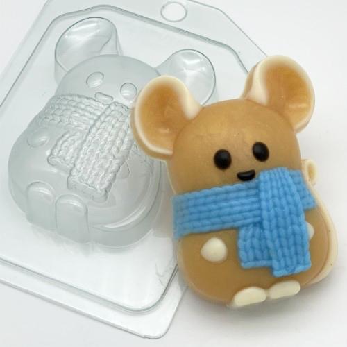 Мышь в шарфе, форма пластиковая