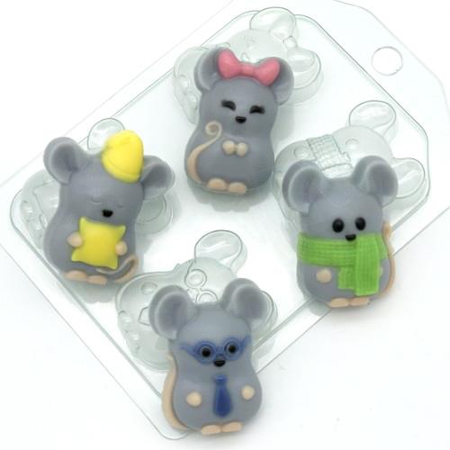 Мыши мини, форма пластиковая