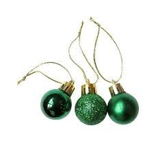 Набор елочных шаров 3 шт цвет зеленый