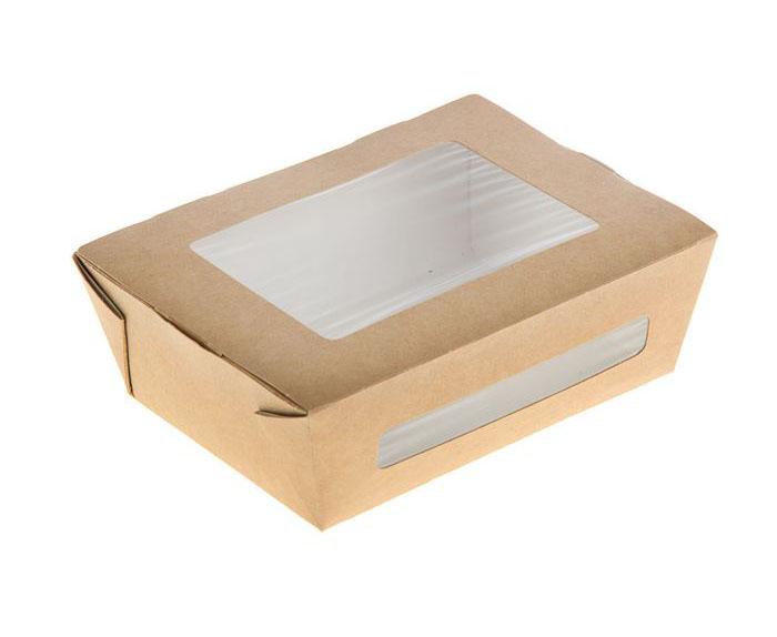 Коробочка крафт  с окном 15х11,5х5 см