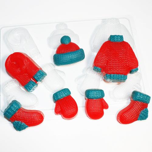 Вязаные МИНИ, форма пластиковая