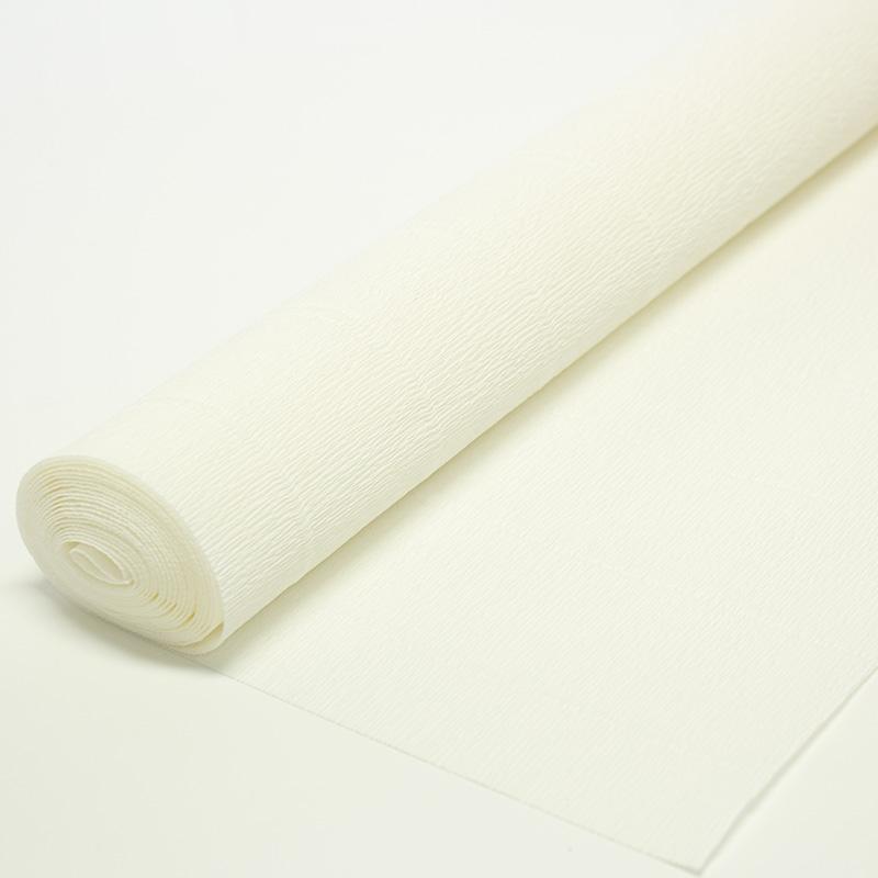 Бумага гофрированная простая белая 600
