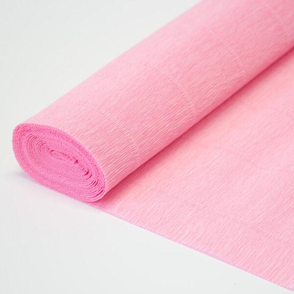Бумага гофрированная простая светло-розовая 549