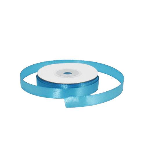 Лента атласная 1,2 см голубая