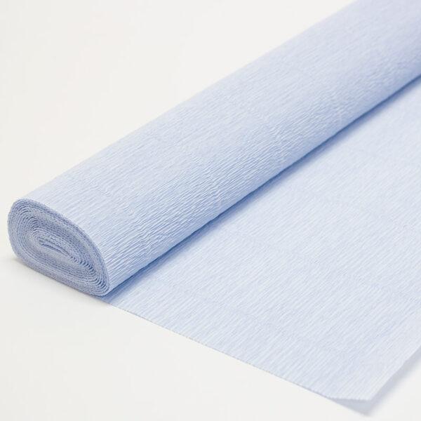 Бумага гофрированная простая нежно-голубая 559