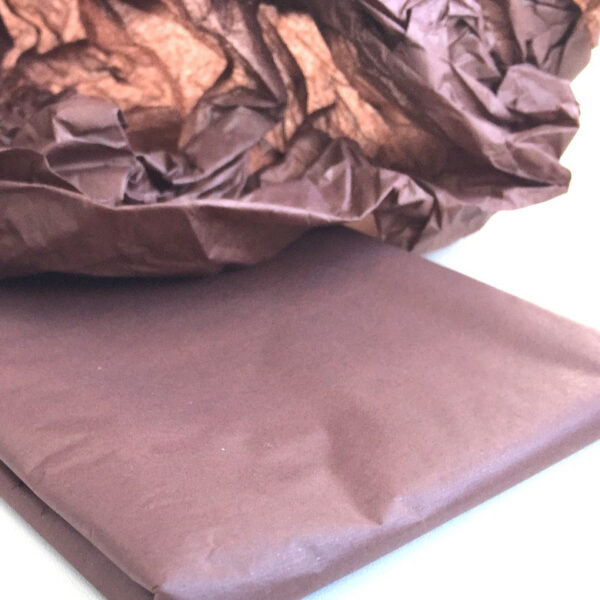 Бумага тишью шоколадная, 50х66 см