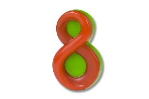 Восьмерка, форма пластиковая