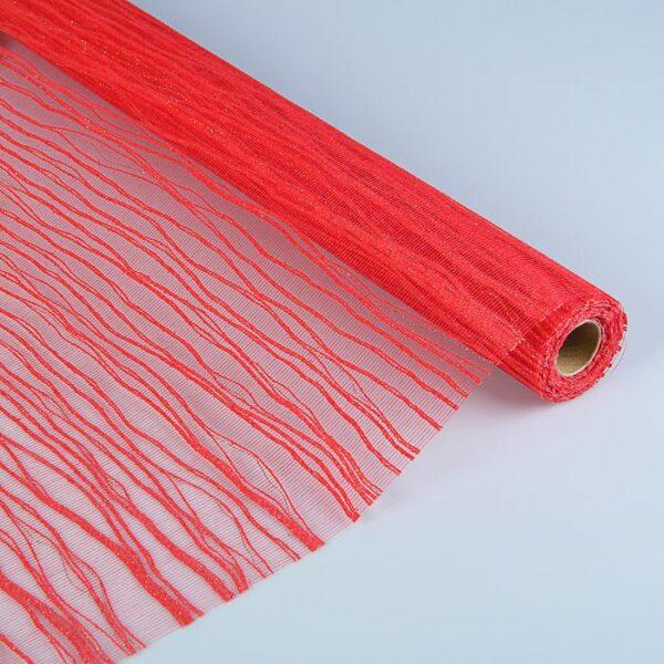 Сетка «Сирокко» металлизированная, красная