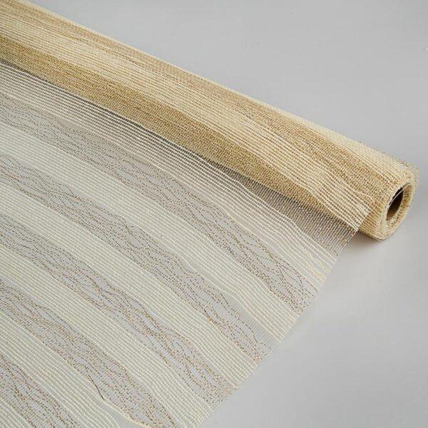 Сетка натуральная, металлизированная, слоновая кость