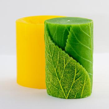 Цилиндр с листиками 3D