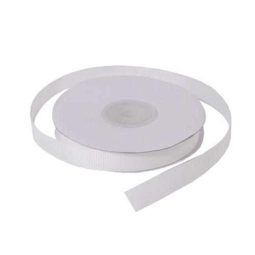 Лента репсовая 1,2 см белая