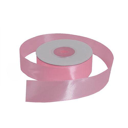 Лента атласная 2,5 см светло-розовая
