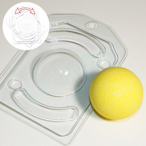 Полусфера D 55 мм с позиционированием, форма пластиковая