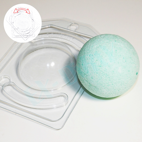 Полусфера D 65 мм с позиционированием, форма пластиковая