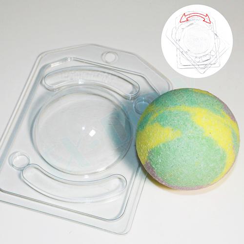 Полусфера D 70 мм с позиционированием, форма пластиковая