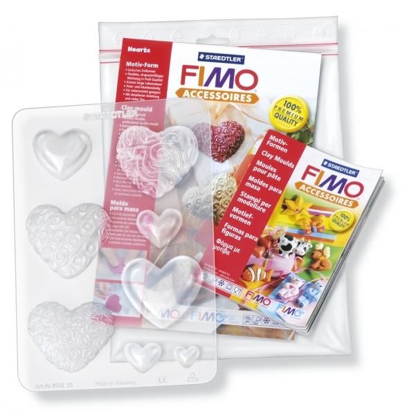"""Fimo формочки для литья """"Сердца"""""""