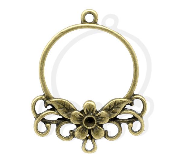 Коннектор Кольцо с цветком