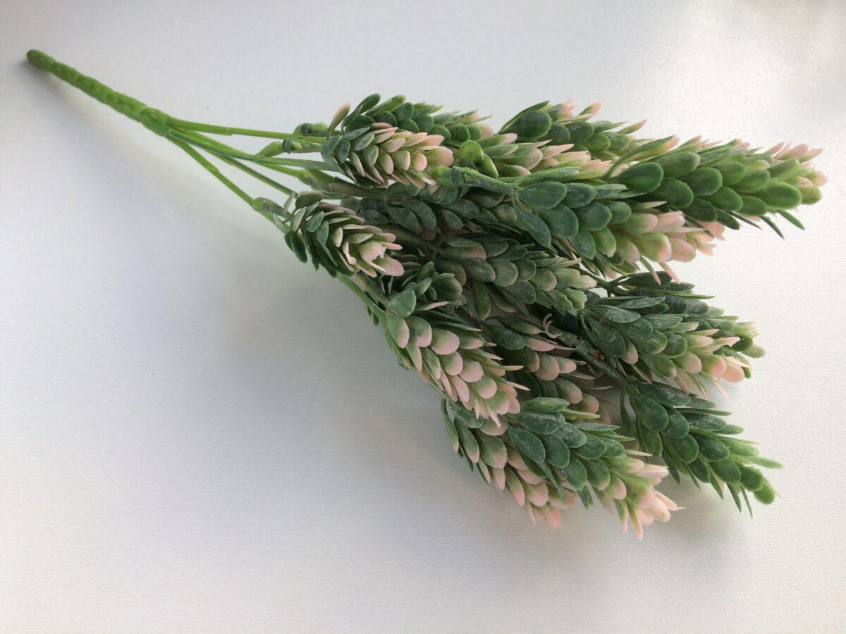 Ветка хмеля цвет розово-зеленый с напылением