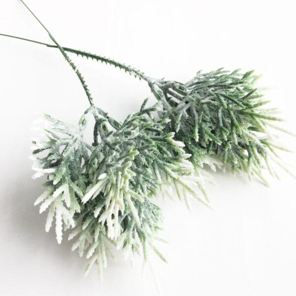 """Букет """"Двухцветная травка"""" бело-зеленая с напылением"""
