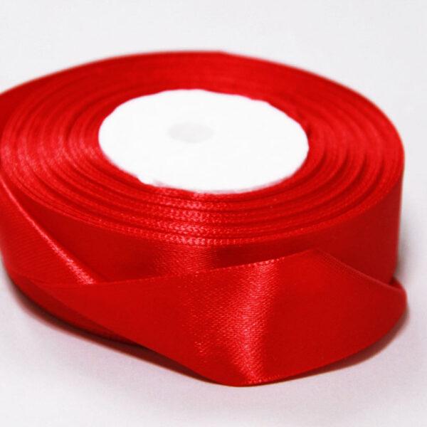 Лента атласная 2,5 см красная