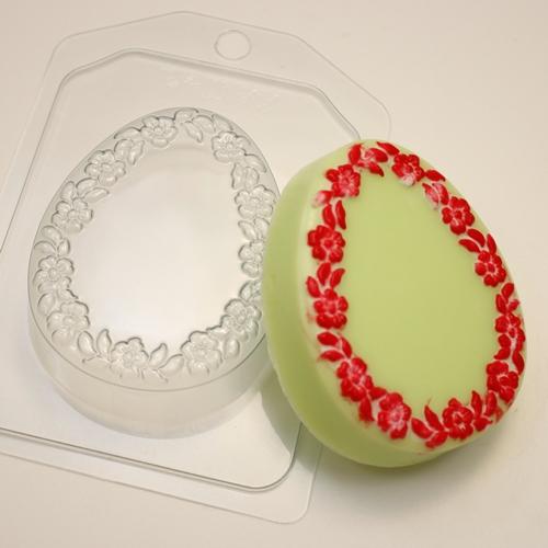 Яйцо плоское Цветочная рамка