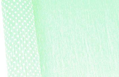 Бумага гофрированная с белыми точками светло-зеленая