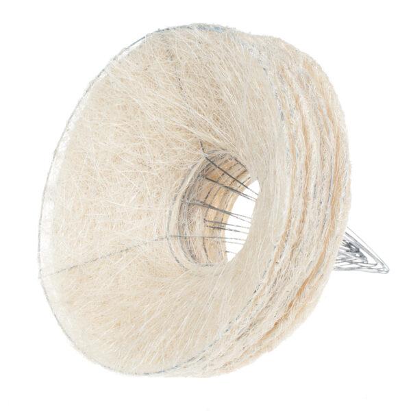Каркас для букета гладкий 25 см, цвет белый