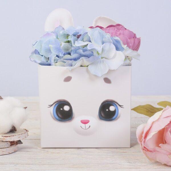 Коробка для мини букетов «Зайчишка», 12?20?10 см