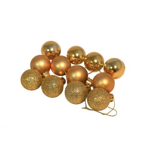 Набор елочных шаров 3 шт цвет золото