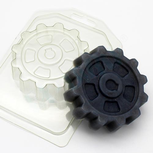 Шестерня, форма пластиковая