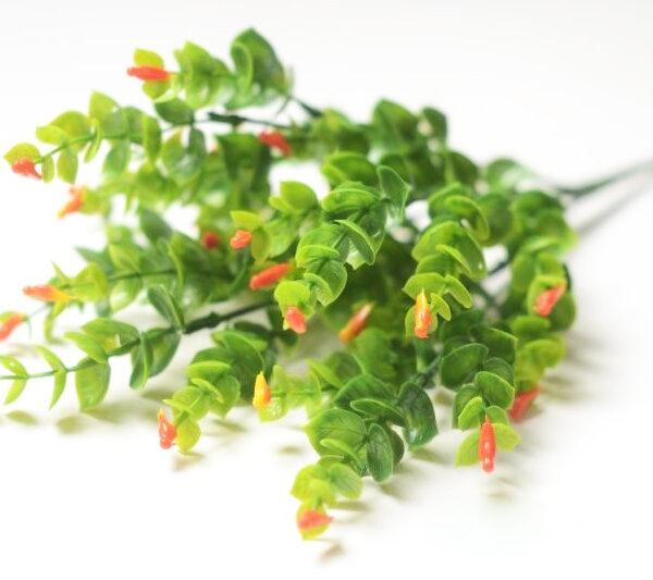 """Букет """"Зелень с птичками"""" оранжевая"""