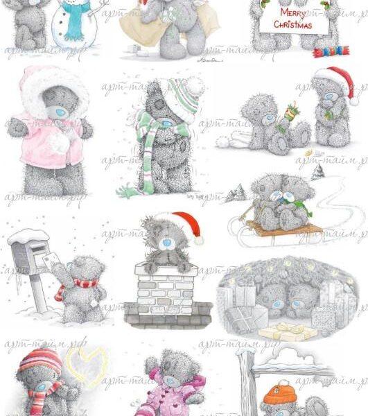 Новый год, мишки №2