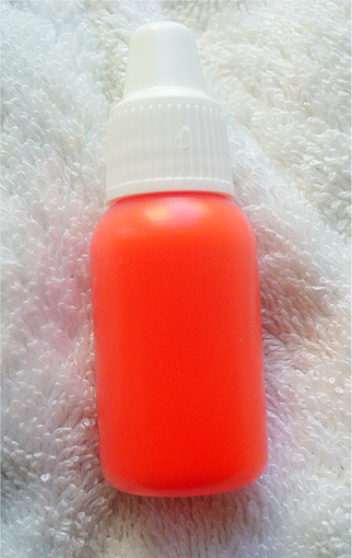 Красный флуоресцентный гелевый пигмент