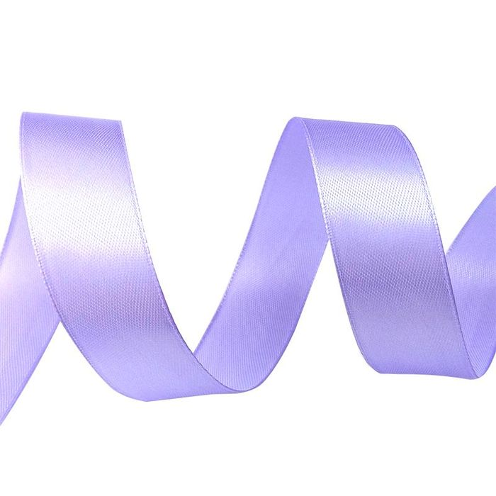 Лента атласная 2,5 см светло-фиолетовая