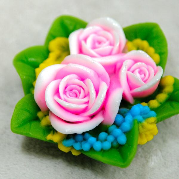 Букет три розы 3D