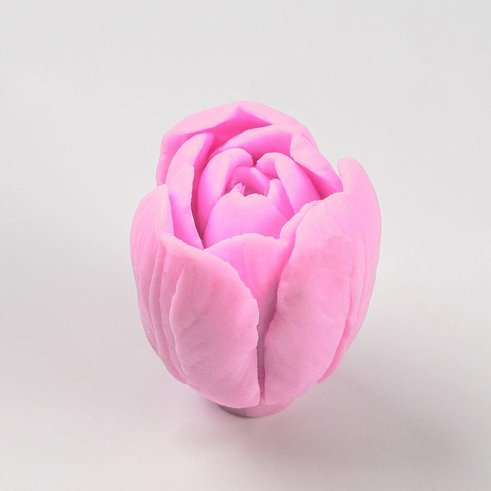 Бутон тюльпана №3 3D, силиконовая форма