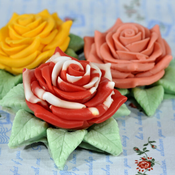 Роза в листьх 3D